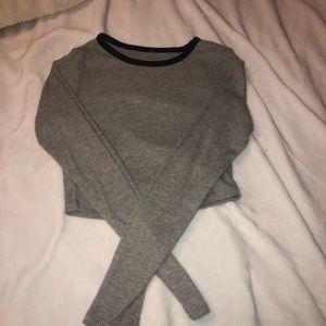 gray long shirt